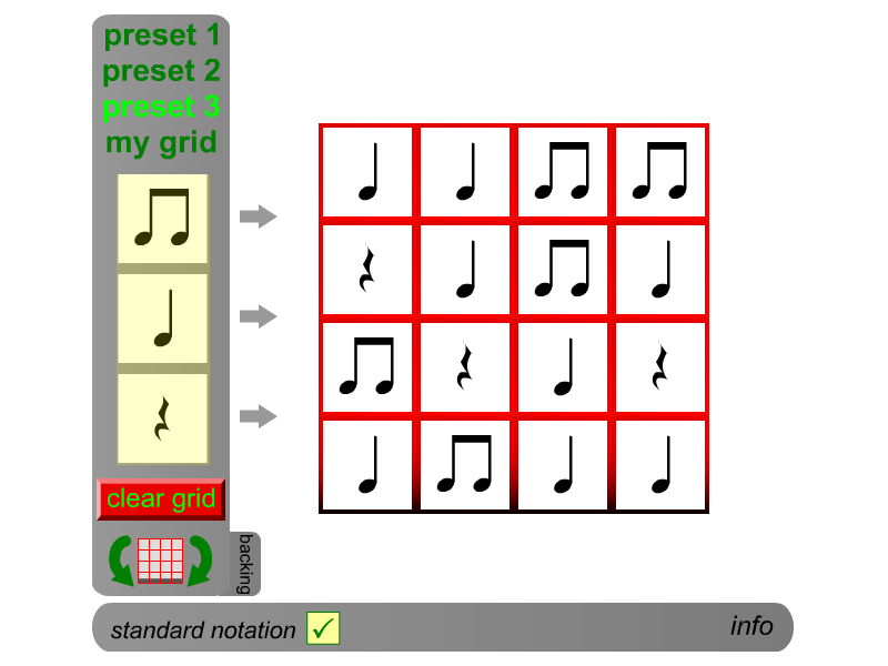 rhythm grid player